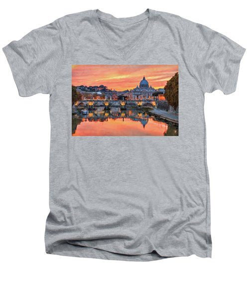 Rome And The Vatican City - 01  Men's V-Neck T-Shirt
