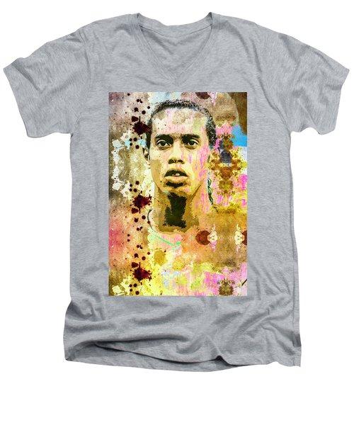 Ronaldinho Gaucho Men's V-Neck T-Shirt by Svelby Art