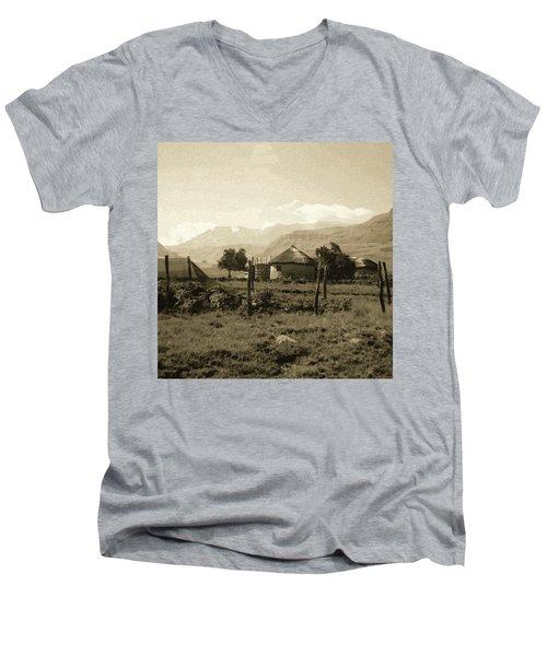 Rondavel In The Drakensburg Men's V-Neck T-Shirt
