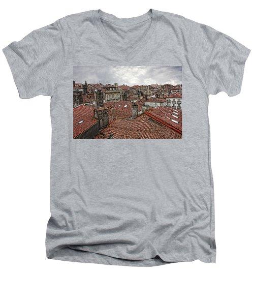 Roofs Over Santiago Men's V-Neck T-Shirt