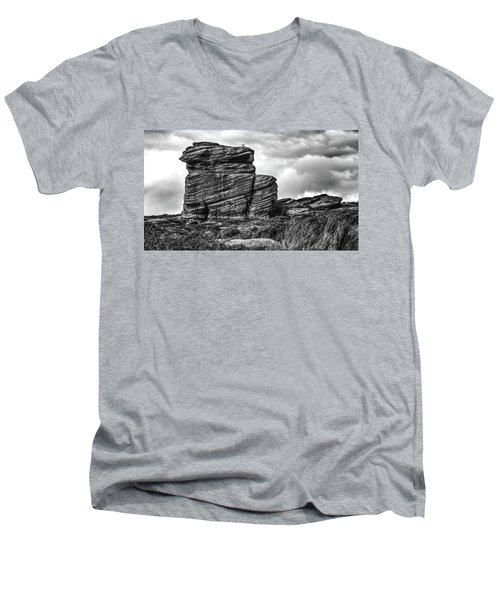 Rook Rock Men's V-Neck T-Shirt