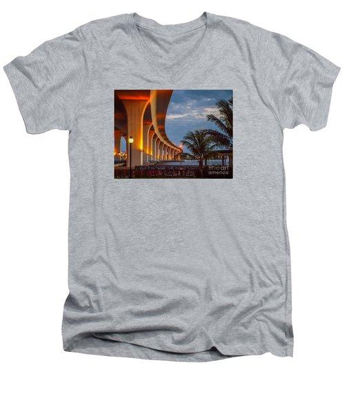 Roosevelt At First Light Men's V-Neck T-Shirt by Tom Claud