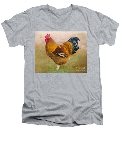 Rooster Men's V-Neck T-Shirt