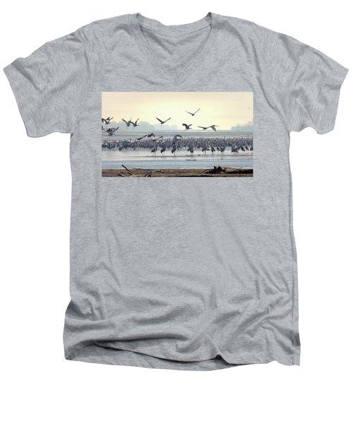 Roosting On The Platte Men's V-Neck T-Shirt