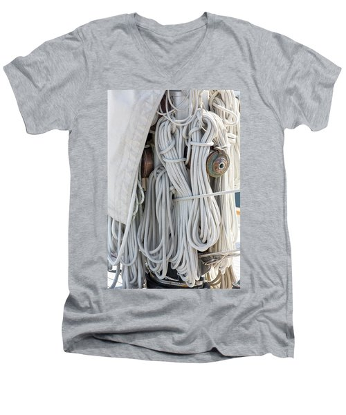 Ropes Of A Sailboat Men's V-Neck T-Shirt