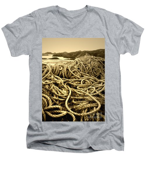 Ropes On Shore Men's V-Neck T-Shirt