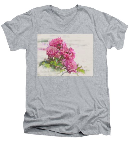 Rose 2 Men's V-Neck T-Shirt