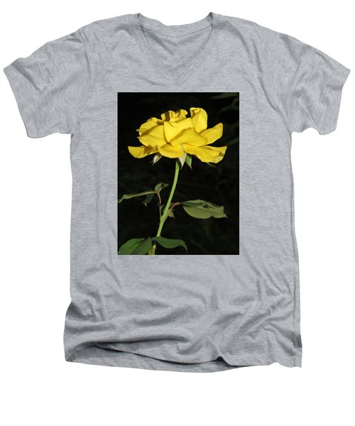 Men's V-Neck T-Shirt featuring the photograph Rose 5 by Phyllis Beiser