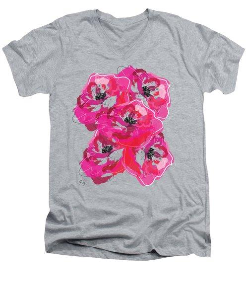 Rose Abundance Men's V-Neck T-Shirt