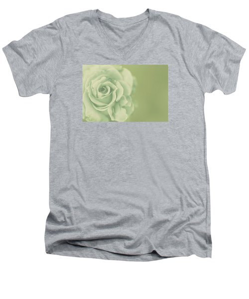 Men's V-Neck T-Shirt featuring the photograph Rose Antique by The Art Of Marilyn Ridoutt-Greene