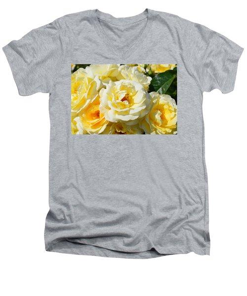 Rose Bush Men's V-Neck T-Shirt
