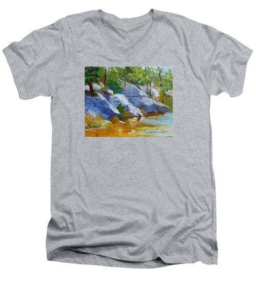 Rose Canyon Lake Men's V-Neck T-Shirt