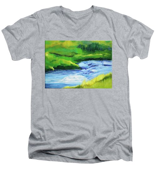 Rose Creek Summer Men's V-Neck T-Shirt