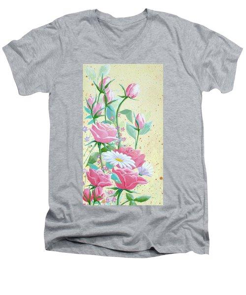 Rose Diptych 1 Men's V-Neck T-Shirt