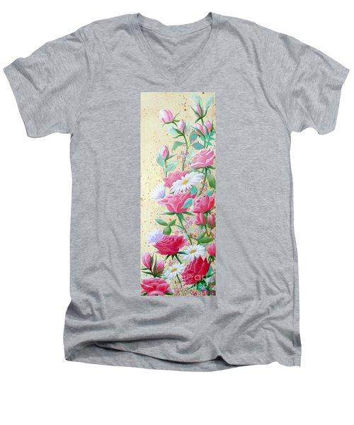 Rose Diptych 2  Men's V-Neck T-Shirt