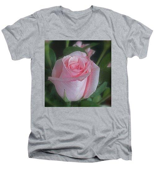 Rose Dreams Men's V-Neck T-Shirt by Suzy Piatt
