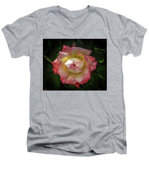 Rose From Mable Ringling's Garden Men's V-Neck T-Shirt