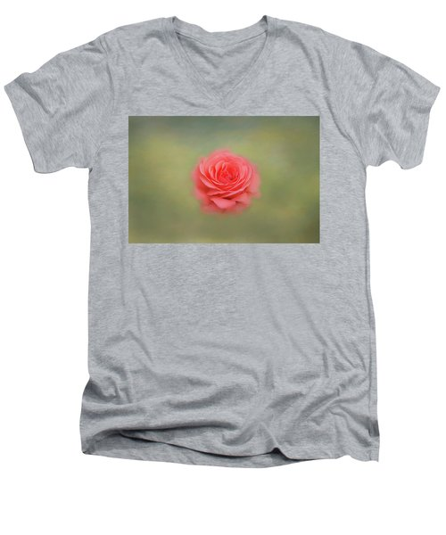 Men's V-Neck T-Shirt featuring the photograph Rose Impressions by Kim Hojnacki