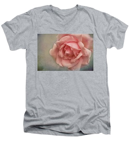 Rose New Dawn Men's V-Neck T-Shirt by Jacqi Elmslie