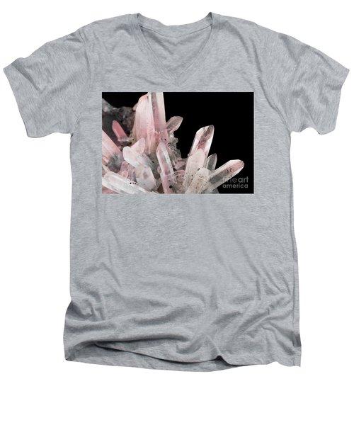 Rose Quartz Crystals Men's V-Neck T-Shirt