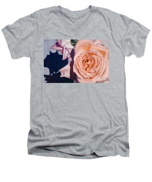 Rose Splendour Men's V-Neck T-Shirt by Kerryn Madsen-Pietsch