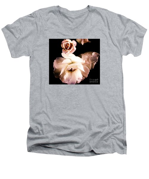 Men's V-Neck T-Shirt featuring the photograph Rose by Vanessa Palomino