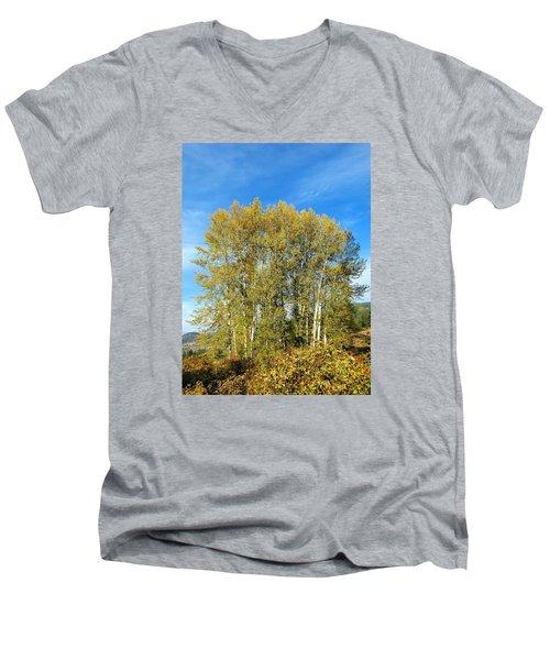 Rosehips And Cottonwoods Men's V-Neck T-Shirt by Will Borden
