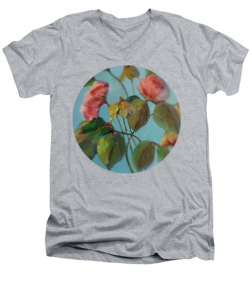 Roses And Wildflowers Men's V-Neck T-Shirt