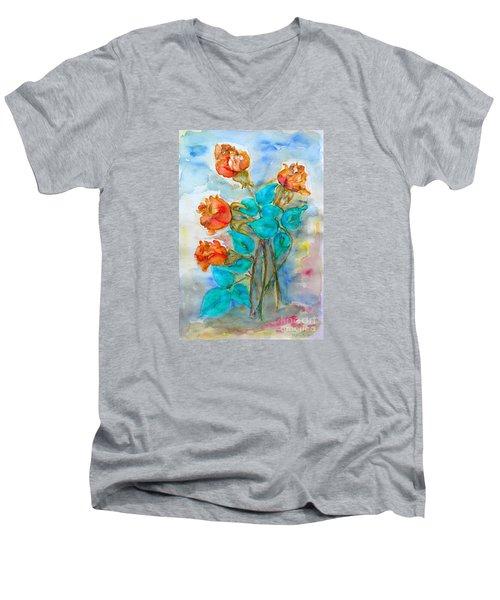Roses Buds Men's V-Neck T-Shirt
