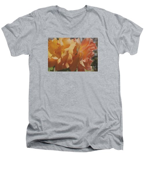 Men's V-Neck T-Shirt featuring the photograph Roses by Cassandra Buckley