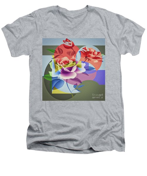 Roses For Her Men's V-Neck T-Shirt