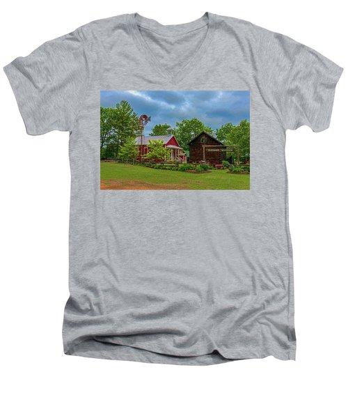 Rosholt Pioneer Park Men's V-Neck T-Shirt by Trey Foerster