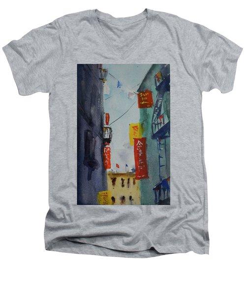 Ross Alley6 Men's V-Neck T-Shirt by Tom Simmons