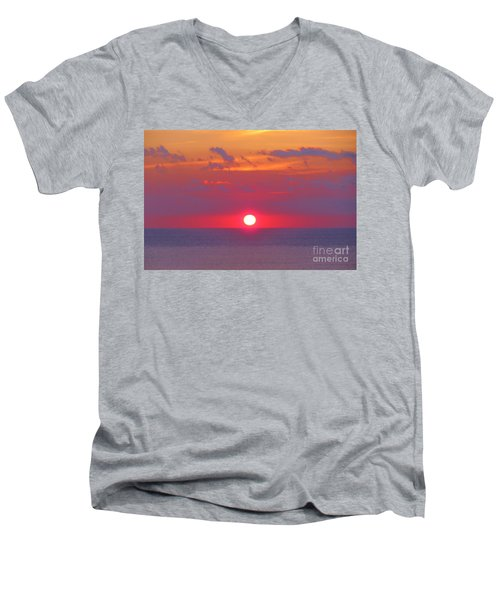 Rosy Sunrise Men's V-Neck T-Shirt