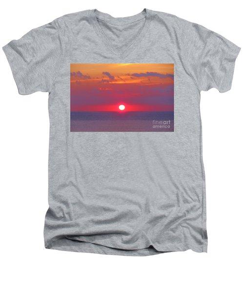 Rosy Sunrise Men's V-Neck T-Shirt