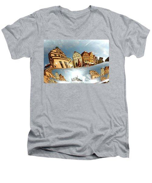 Men's V-Neck T-Shirt featuring the photograph Rotenburg In A Tuba by KG Thienemann
