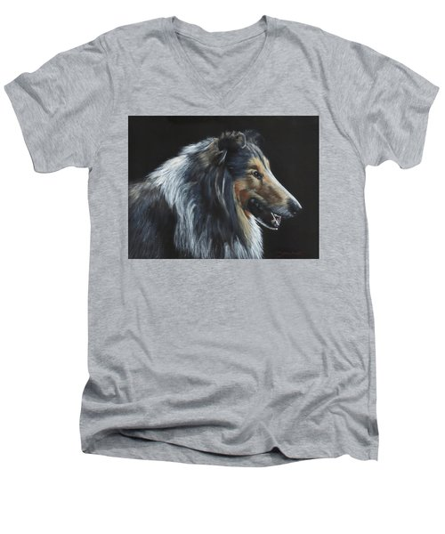 Rough Collie Men's V-Neck T-Shirt