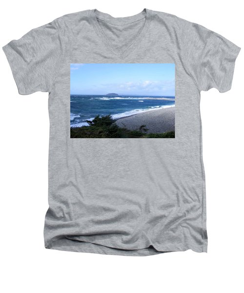 Rough Day On The Point Men's V-Neck T-Shirt by Barbara Griffin