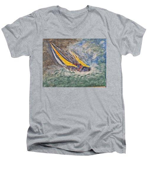 Rough Seas Men's V-Neck T-Shirt