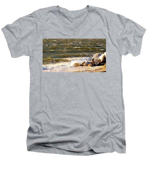 Rough Waters Men's V-Neck T-Shirt