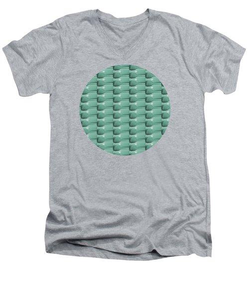 Round Bottom Bottles Collage Men's V-Neck T-Shirt by Phil Perkins