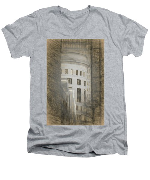 Round In A Square World Men's V-Neck T-Shirt