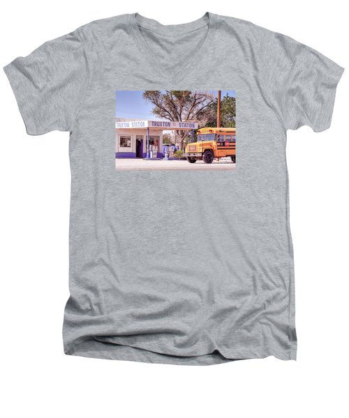Men's V-Neck T-Shirt featuring the photograph Route 66 Impression by Juergen Klust