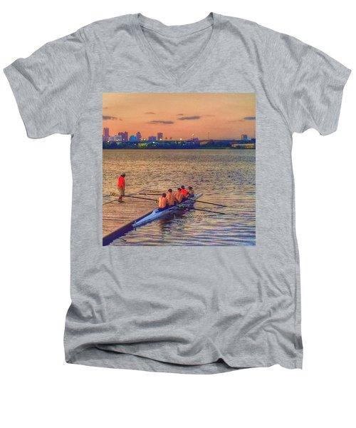 Rowing Club Men's V-Neck T-Shirt