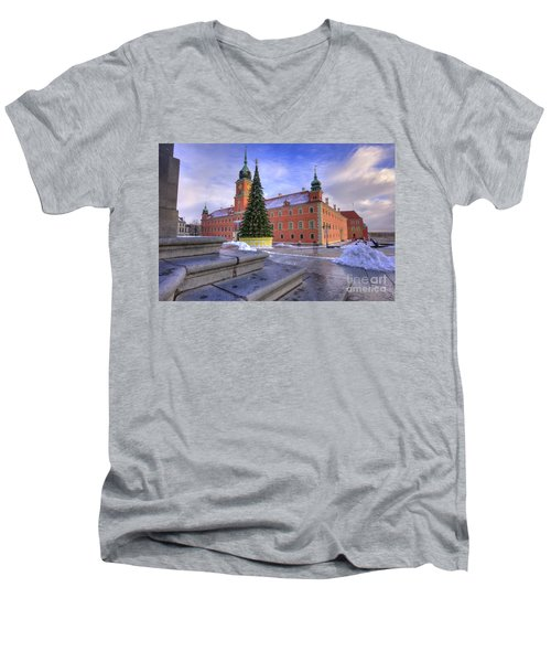 Men's V-Neck T-Shirt featuring the photograph Royal Castle by Juli Scalzi