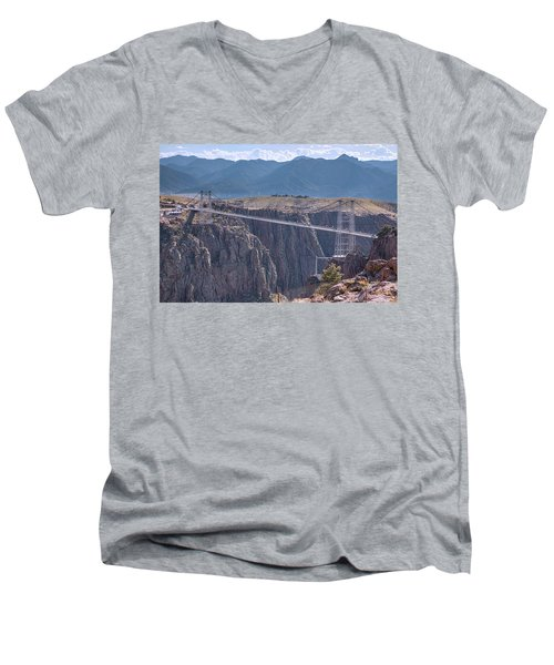 Royal Gorge Bridge Colorado Men's V-Neck T-Shirt by James BO Insogna