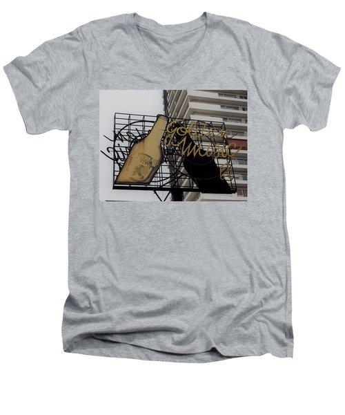 Royal Guard Cerveza And Golden Music Sign Men's V-Neck T-Shirt
