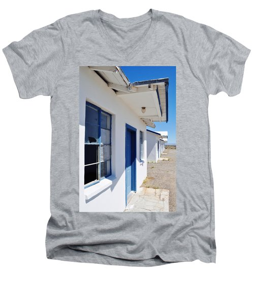 Roy's Motel And Cafe Auto Court Men's V-Neck T-Shirt by Kyle Hanson