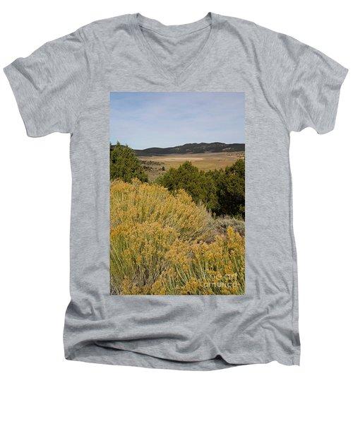 Rt 72 Utah Men's V-Neck T-Shirt by Cindy Murphy - NightVisions