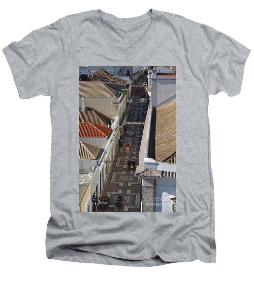 Rua Do Crime In Faro Men's V-Neck T-Shirt by Angelo DeVal